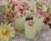 3 Jasmine Votives,  Intention Candles