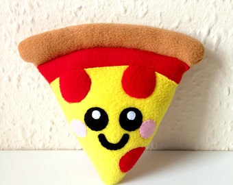 Pizza Plush Cushion, cute home decor, happy pizza cushion, fun pizza plushie, food plush cushion, soft toy, kids room, cute pizza gifts