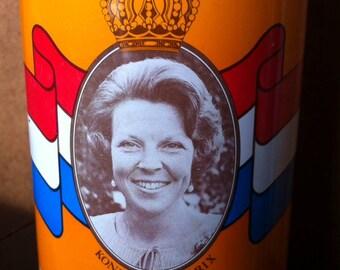 Vintage De Ruijter Oranje hagel 1980 blik
