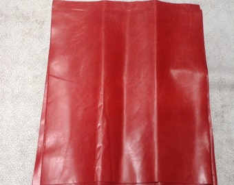 ML932.  Persimmon Leather Cowhide Remnant