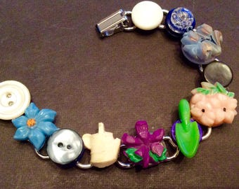 Gardeners Delight button bracelet