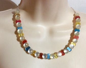 Gum Drop Button necklace