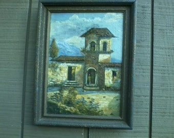 Antique Italian Landscape Oil Painting signed Pagano