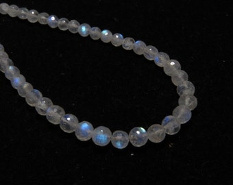 Rainbow Moonstone - AAA - High Quality - So Gorgeous Micro Cut Round Ball Beads Nice Blue Flashy Fire size 4 - 5 mm 8 inches  - 47 pcs