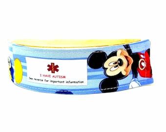 Kids Medical Alert Bracelet Child ID Bracelet Allergy Alert Clothing Mickey Mouse