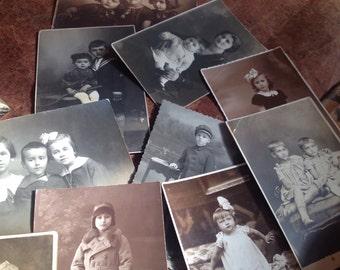 Children Photos, Wholesale Vintage Photography, 12 Antique Cabinet Photo portraits people