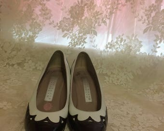 Black and White Pumps by Perry Ellis