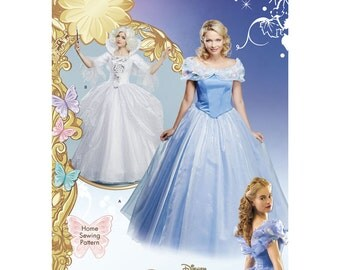 Sz 6/8/10/12/14 - Simplicity Costume Pattern 1026 - Misses' Cinderella and Fairy Godmother Costumes - Misses' Sized Pattern