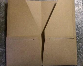 4 Pocket Kraft Folder Midori Travelers Notebook Regular Field Note Personal A5