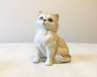 Vintage cat figurine, vintage cat, ceramic cat, porcelain cat, kitten figurine, cat collectible, cat decor, cat statue, cat retro, cat lover