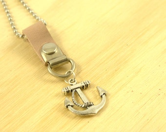 SALE 50% off Anchor charm necklace