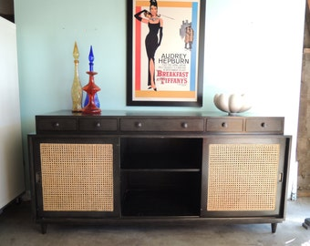 MID CENTURY STYLE Noir Credenza or Media Stand (Los Angeles)