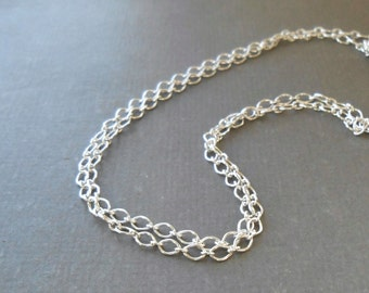 Five Feet, Sterling Silver Chain, 1.9mm Long and Short,  Bulk Chain