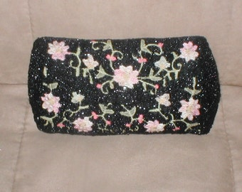 Vintage Floral Beaded Evening Clutch Purse by JOSEPH
