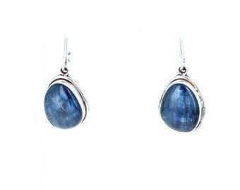 KYANITE EARRINGS Sterling Free Form AAA New World Gems