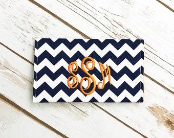Checkbook Cover - Personalized Checkbook Cover - Monogrammed Checkbook Cover - Custom Check Book Cover - Fabric Checkbook Cover