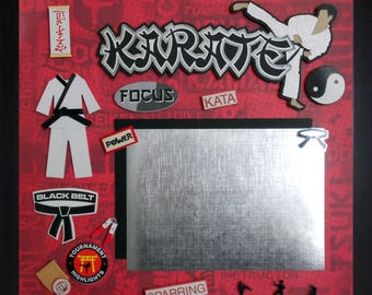 KARATE TOURNAMENT Premade Memory Album Page (Gallery Wood Frame Sold Separately)