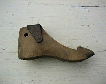 Antique Child's Wooden Shoe Form
