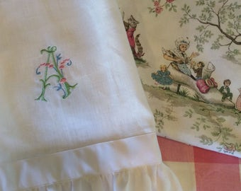 Linen Ruffled Baby Blanket Available in Many Colors