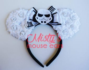 Inspired Star Trooper Star Wars Rose Mouse Ears