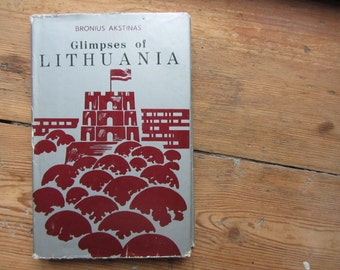 Vintage Book About Lithuania, Soviet Propaganda Books, Communist, Lithuanian Books, Lietuva, Heritage, Geography, Industry, Art, Culture