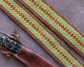 Wool Sash  or Strap Woven by Hand, for Historic Costume or Everyday Use