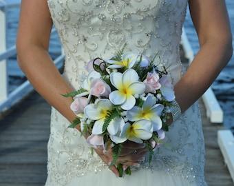 Plummeria & Rose Brides Bouquet