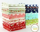 "Vintage Picnic - Fat Quarter  Bundle - 33 - 18""x21"" Cuts - Bonnie and Camille - Moda Quilt Fabric"