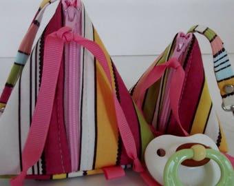 Dollbirdies Original Paci Pod Set, Pacifier Case, Pacifier Pouches, Triangle  Pouches, Knitting Notions, Zipper Pouches, Diaper Bag