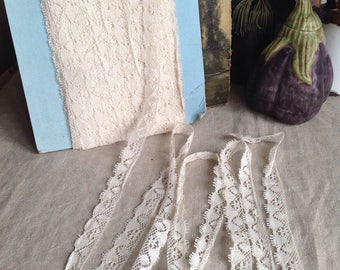 Antique Laces, Vintage Off White Trim / Dolls Bears Ballet.5 yd Vintage Wedding & Home Furnishings / Old New Stock!