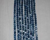 Kyanite, Blue Kyanite, Grade A, Kyanite Square, Flat Square Bead, Natural Stone, Semi Precious, Blue Bead, Half Strand, 8mm, AdrianasBeads