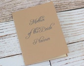 Custom mother of the bride planner