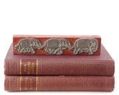 Vintage Elephant Print Stamp, Wood Printing Block, Old Printing Block, Elephants Holding Tails