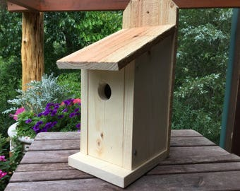 Bluebird Birdhouse Solid Wood Natural