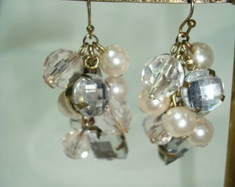 1989 Large Clustered Faux Pearl with Sparkling Jewels.