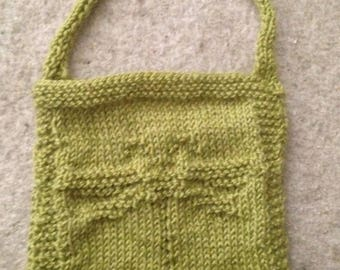 Small Knit Dragonfly Purse