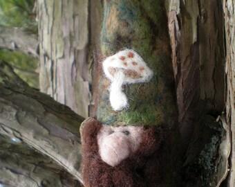 Needlefelted Woodland Gnome
