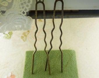 5pcs  (100mm)  Antique Bronze Hair Fork Charm Diy Hair Accessories