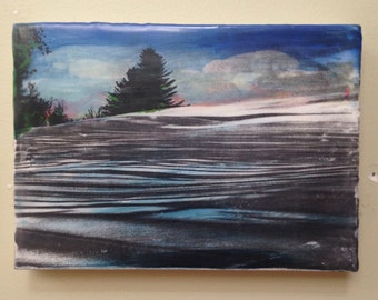Winters Solace encaustic painting #2