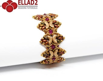 Tutorial Nala Bracelet-Beading Pattern, Jewelry Tutorial,Ellad2, Instant download