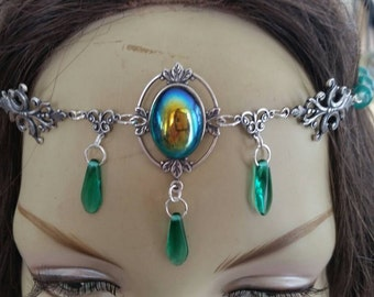 Emerald Circlet of the Forest Priestess celtic elven druid cosplay