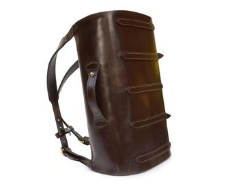 Parachuter Bag //  Leather Backpack // Aircraft Carry-on Luggage // contemporary rucksack design