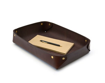 Leather tray // Office tray // Stationery tray // DE BRUIR