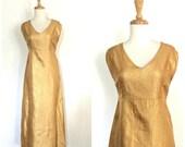 Vintage Gold Party Dress ...