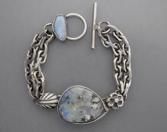 Pastel Boulder Opal Chain Bracelet