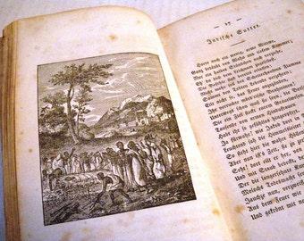1836 Christliche Gedichte German Missionary Poetry Rare Book Suttee Buddhism Illustrated