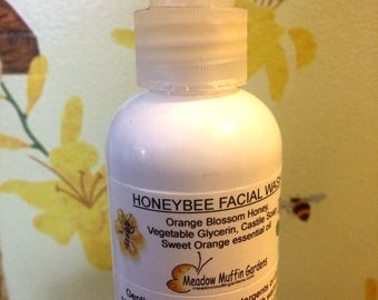 Facial Wash, Honey Glycerin, Ideal for all skin types, 8 oz