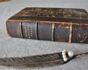The Miscellaneous Works of Oliver Goldsmith Antique Leather Bound Book 1874