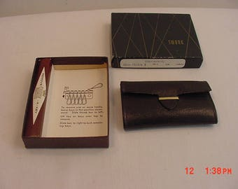 Vintage Swank Remove A Key Leather Holder In Original Gift Box  17 - 594
