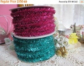 ON SALE Wire Tinsel-5 yards-Retro Aqua